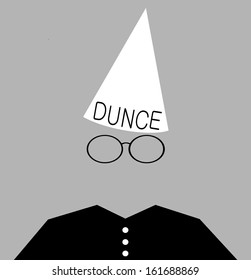 student wearing dunce cap as punishment