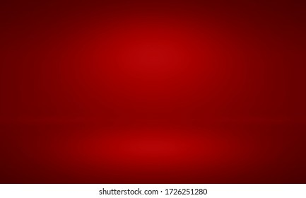 Studio room red background for product show with Elegant light , gray and white abstract. gradient surface luxury and clean for Medical or jewelry backgrounds