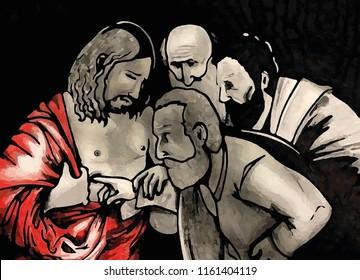 Study for the Jesus of Caravaggio.