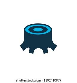 Stump icon colored symbol. Premium quality isolated tree stub element in trendy style.