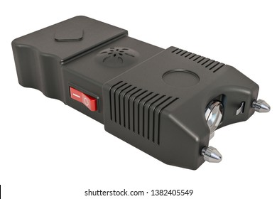 Stun Gun, electroshock weapon. 3D rendering isolated on white background