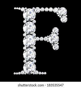 "A stunning beautiful ""F"" set in diamonds"