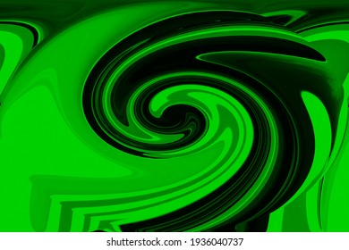Stunning unique delicately extruded textured swirled 3D modern abstract design in green, black and paler tints perfect for wallpapers and backgrounds in subtle tints and hues.