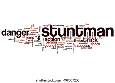 Stuntman word cloud concept