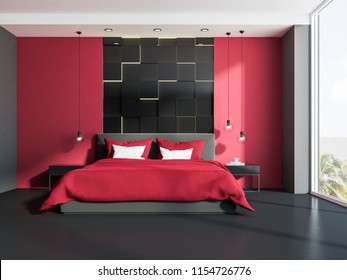 Gray and Red Bedroom Images, Stock Photos & Vectors ...