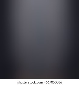 Stylish black blurred background. Dim lighting. Smooth surface. Luxury abstract background. Gothic gloss blank backdrop.