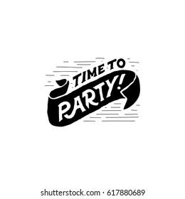 Stylish logo party time