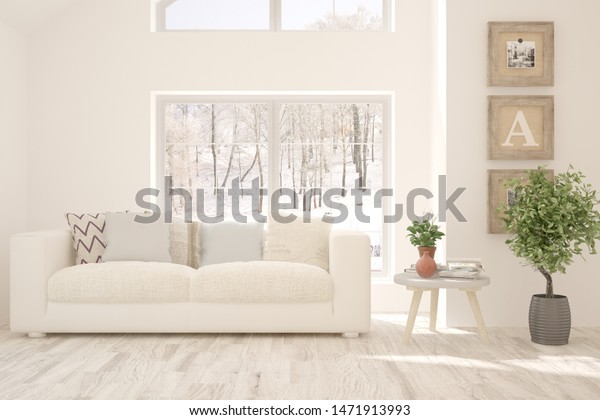 Enjoyable Stylish Room White Color Sofa Winter Stock Image Download Now Gmtry Best Dining Table And Chair Ideas Images Gmtryco