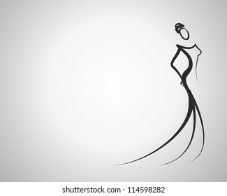 stylish woman with place for your text