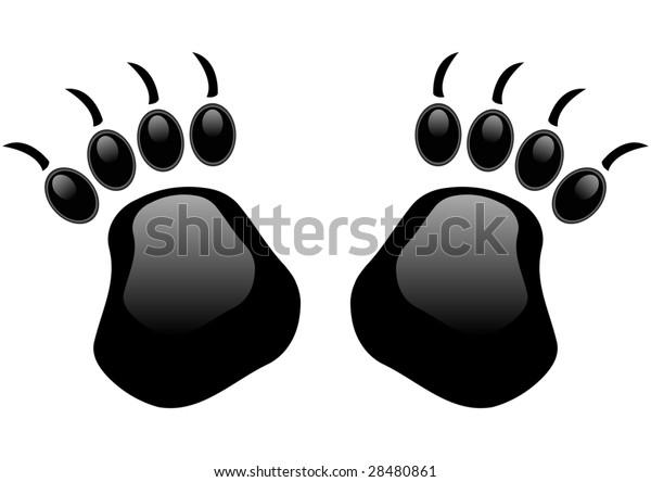 stylized bear paw prints
