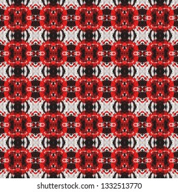 Stylized boho seamless pattern. Inspired by traditional Arabic themes. Boho seamless pattern for use in web and digital design, craftworks and fashion products.