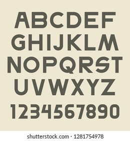 Uppercase Alphabet Futuristic Science Technology Font