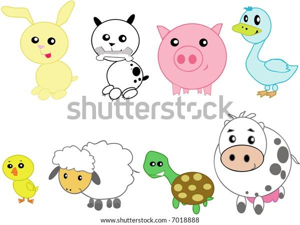 stylized domestic animals