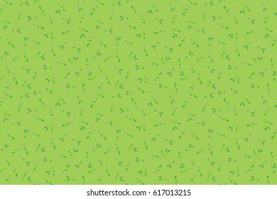 Stylized hand drawn little flowers. Raster flower miniprint seamless pattern in green colors.