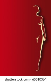 stylized illustration of a female nude
