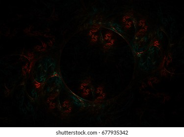 Stylized images of color and intersecting spiral lines. The infinity of space and time. Chaotic movement in space. Collision of stars. Interaction of cosmic objects. The invisible world.
