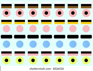stylized licorice allsorts all shapes
