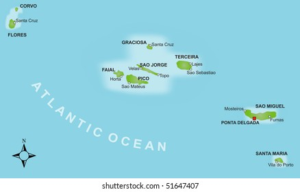 Map Azores Images, Stock Photos & Vectors | Shutterstock