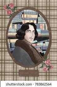 Stylized portrait of Oscar Wilde