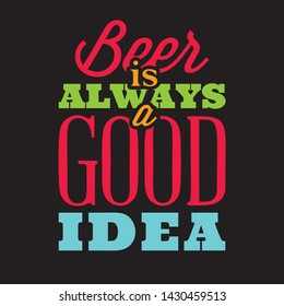 stylized quotes on the topic of beer. Color text on a black background.