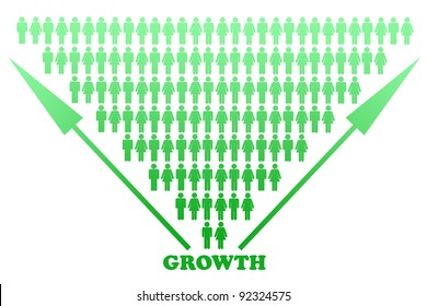 Stylized scheme showing succesful growth.