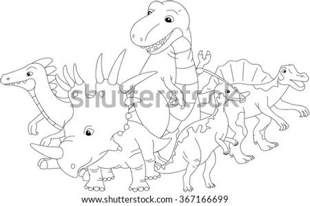 Styracosaurus Spinosaurus Tyrannosaur Stegosaurus Parasaurolophus