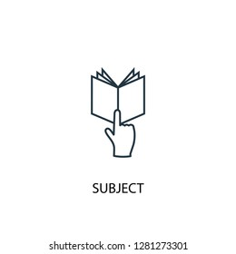 subject concept line icon. Simple element illustration. subject  concept outline symbol design. Can be used for web and mobile UI/UX