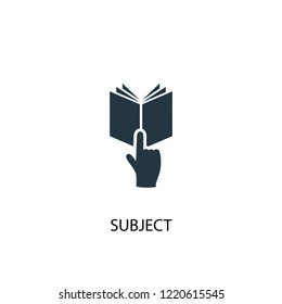 subject icon. Simple element illustration. subject concept symbol design. Can be used for web and mobile.