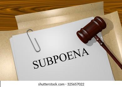 Subpoena Title On Legal Documents
