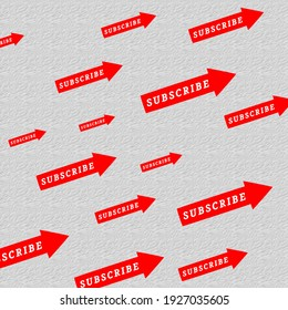 subscribe button symbol icon red color illustrates.