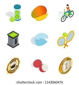 Subsidization icons set. Isometric set of 9 subsidization icons for web isolated on white background