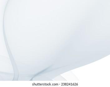 Subtle background light blue transparent fractal. Raster