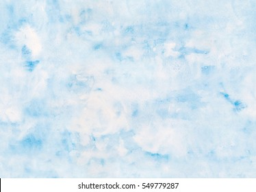 Subtle blue watercolor background - seamless texture.