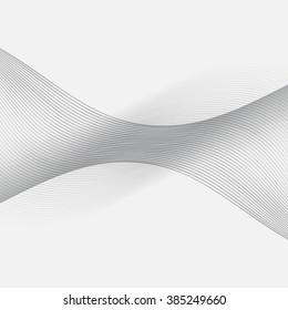 Subtle Gray Line Wave Blend Background