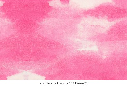 Subtle light pink color ink effect shades gradient on textured paper. Smeared aquarelle painted magenta watercolor canvas for splash design, invitation background, vintage template