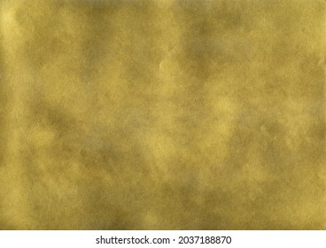 Subtle noise gold spray paint texture. Luxury glistering golden abstract splattered background.