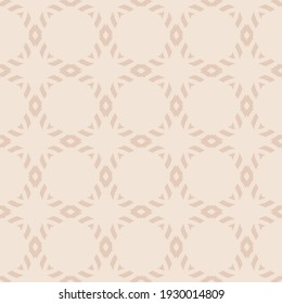 Subtle raster geometric ornament. Simple abstract seamless pattern with diamond grid, mesh, net, lattice. Elegant ornamental background in beige color. Repeat design for decoration, wallpapers, fabric
