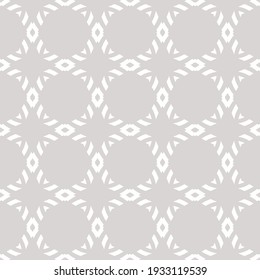 Subtle raster geometric ornament. Simple abstract seamless pattern with diamond grid, mesh, net, lattice. Elegant ornamental background in light gray color. Repeat design for decoration, wallpapers