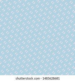 Subtle wavy lines seamless pattern. Raster texture with waves, diagonal curved stripes. Modern abstract light pink and blue background. Repeatable design for decoration, wallpapers, fabric, cloth
