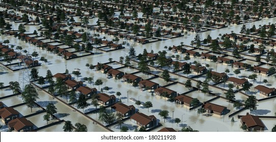 Suburban flooding in the wired society