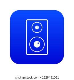 Subwoofer icon digital blue for any design isolated on white illustration