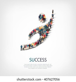 succes people sign 3d