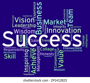 Success Words Meaning Succeed Triumph And Text