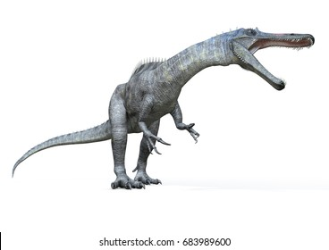 Suchomimus right view, 3D-Rendering