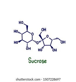 "Sucrose, commonly known as ""table sugar"" or ""cane sugar"", is a carbohydrate formed from the combination of glucose and fructose. Glucose is the simple carbohydrate formed."