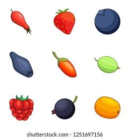 Sucrose icons set. Cartoon set of 9 sucrose icons for web isolated on white background