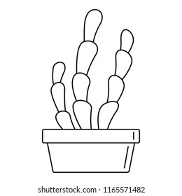 Suculent cactus pot icon. Outline suculent cactus pot icon for web design isolated on white background