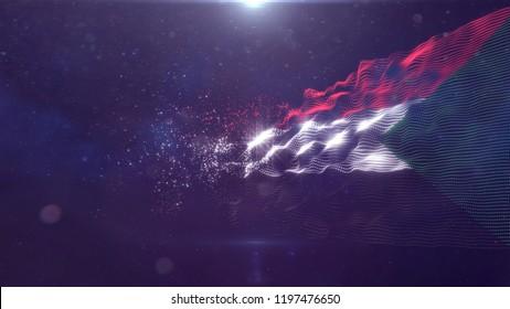 Sudan flag for background