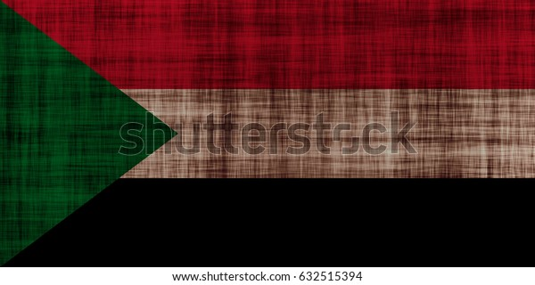Sudan flag grunge background. Background for design in country flag