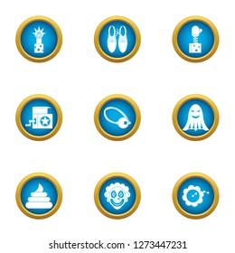Suddenly icons set. Flat set of 9 suddenly icons for web isolated on white background
